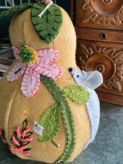 One of a Kind Pear with Mouse Pin Cushion