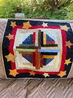 Log with Stars Quilt