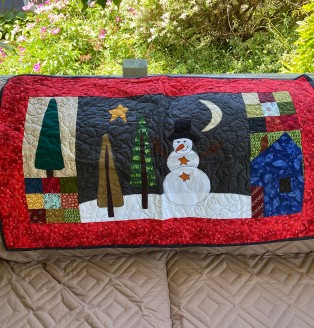 One of a Kind Snowman Scene Wall Hanging