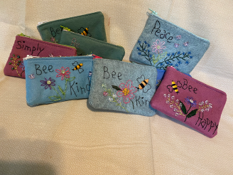 Handmade Embroidered and Beaded  Change Purses