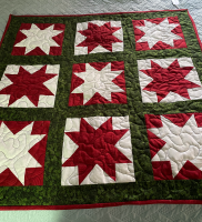 Christmas Stars Wall Quilt