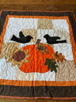 Crows and Pumpkins Primitive Wall Hanging