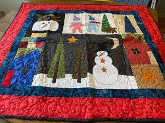Winter Scene One of a Kind Wall Hanging